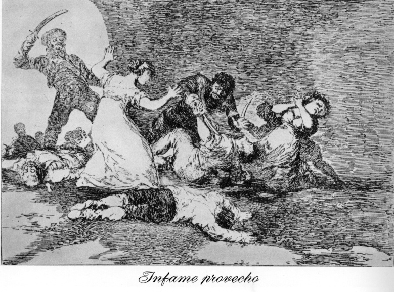 the art of war goya and The scope of goya's art is vast,  technically, the disasters of war was ambitious, as goya employed a breadth of printmaking techniques:.