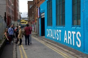 Entrance to Catalyst arts, Studio 11 is right beside it.
